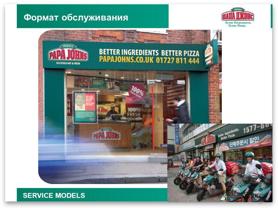 15 Формат обслуживания SERVICE MODELS
