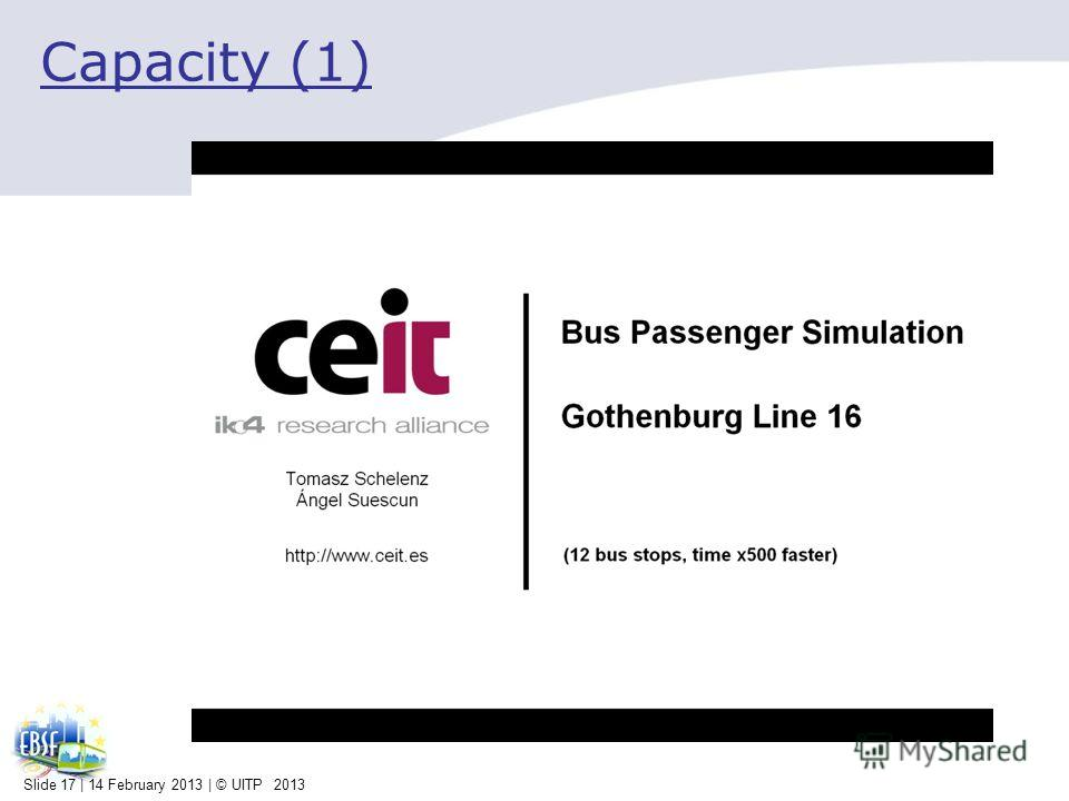 Capacity (1) Slide 17 | 14 February 2013 | © UITP 2013