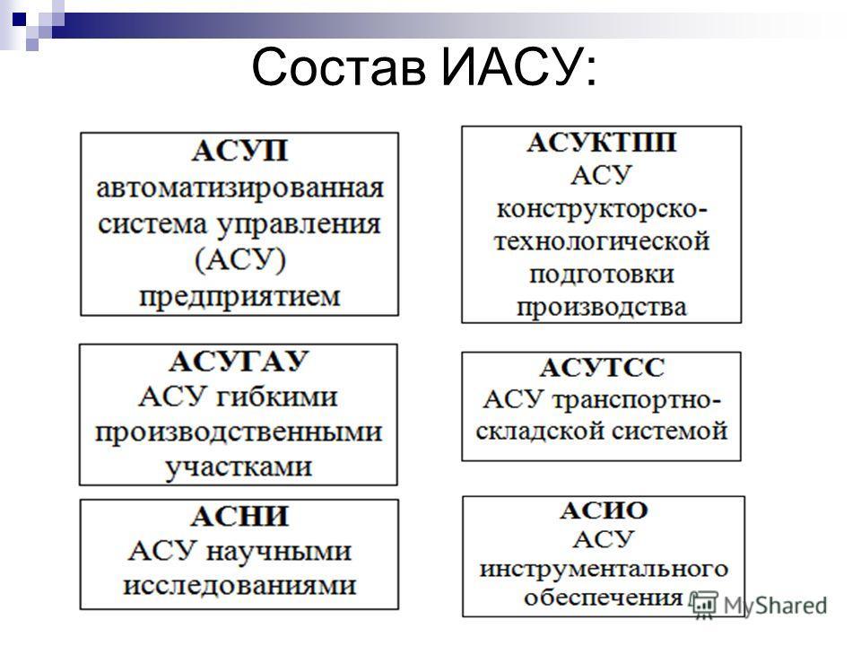 Состав ИАСУ: