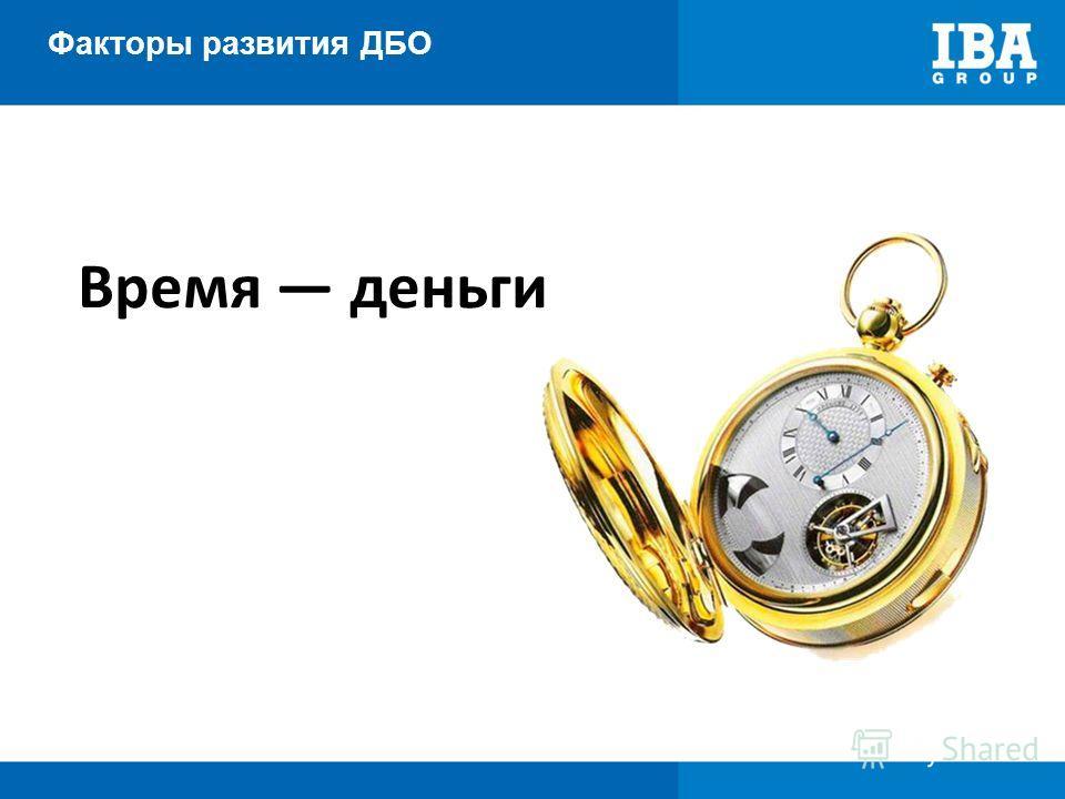 Факторы развития ДБО Время деньги