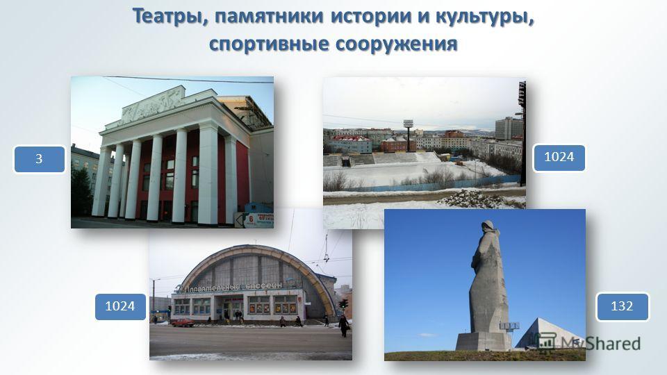 Театры, памятники истории и культуры, спортивные сооружения 310241321024