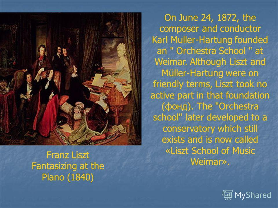On June 24, 1872, the composer and conductor Karl Muller-Hartung founded an