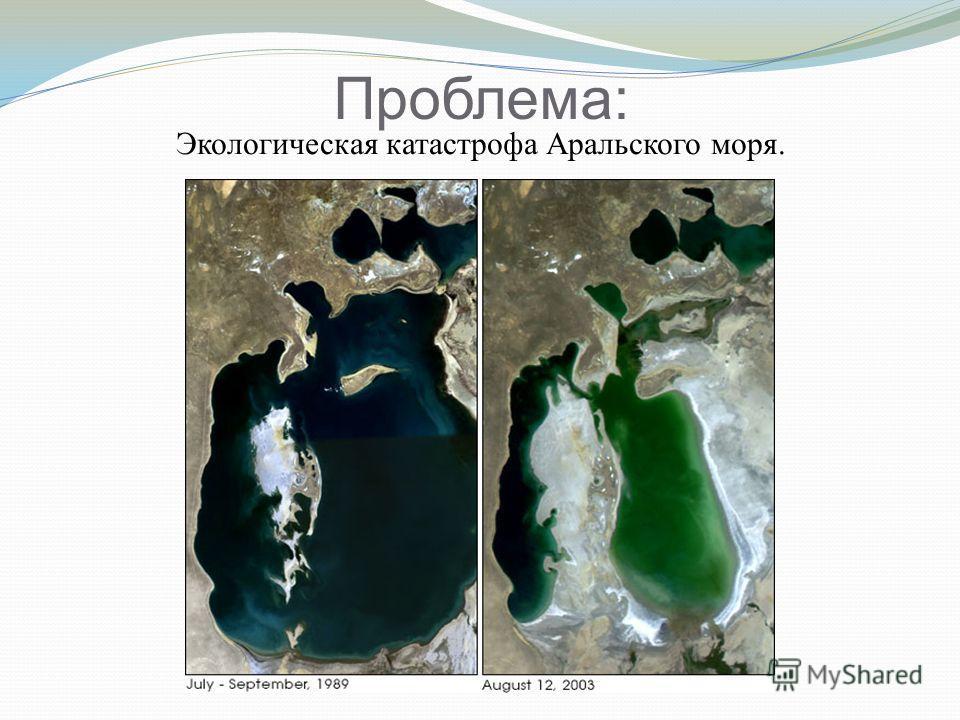Проблема: Экологическая катастрофа Аральского моря.