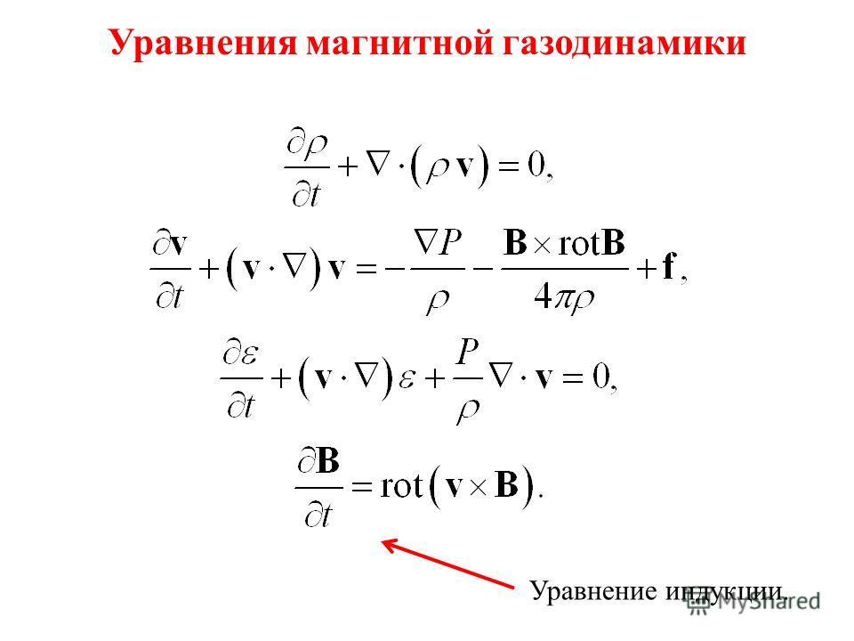 Уравнения газовой динамики Уравнение непрерывности. Уравнение движения. Уравнение энергии. Уравнение состояния. Внешние силы.