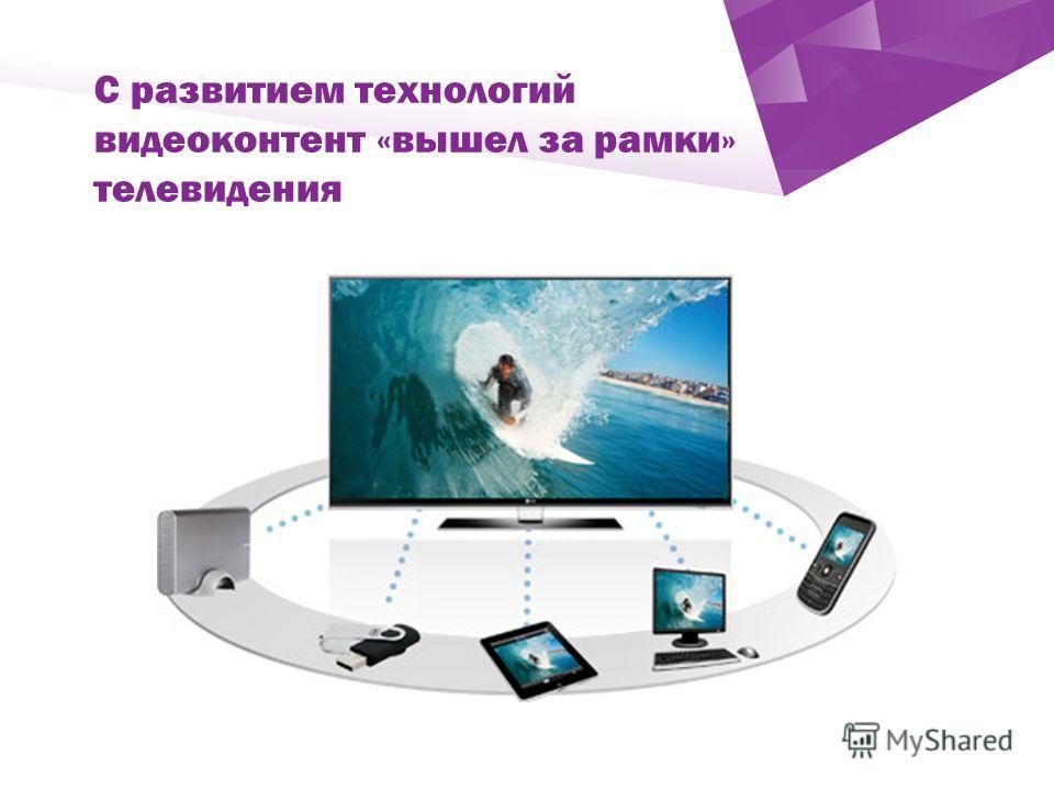 ` С развитием технологий видеоконтент «вышел за рамки» телевидения