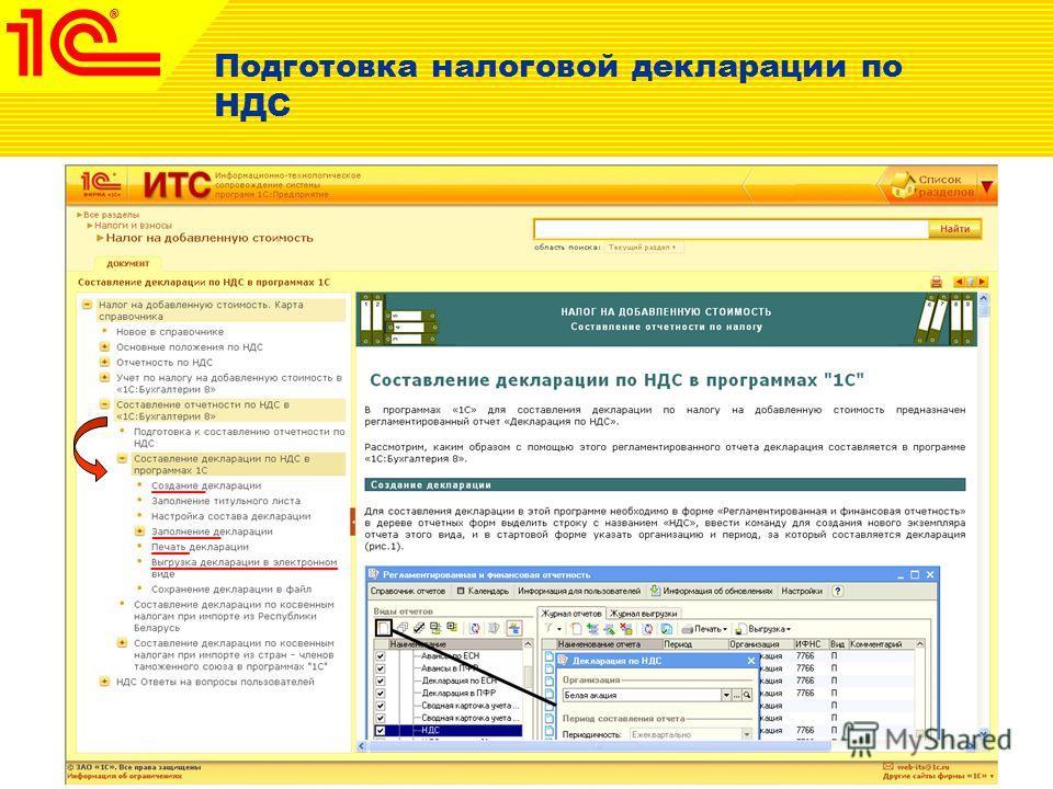 Подготовка налоговой декларации по НДС