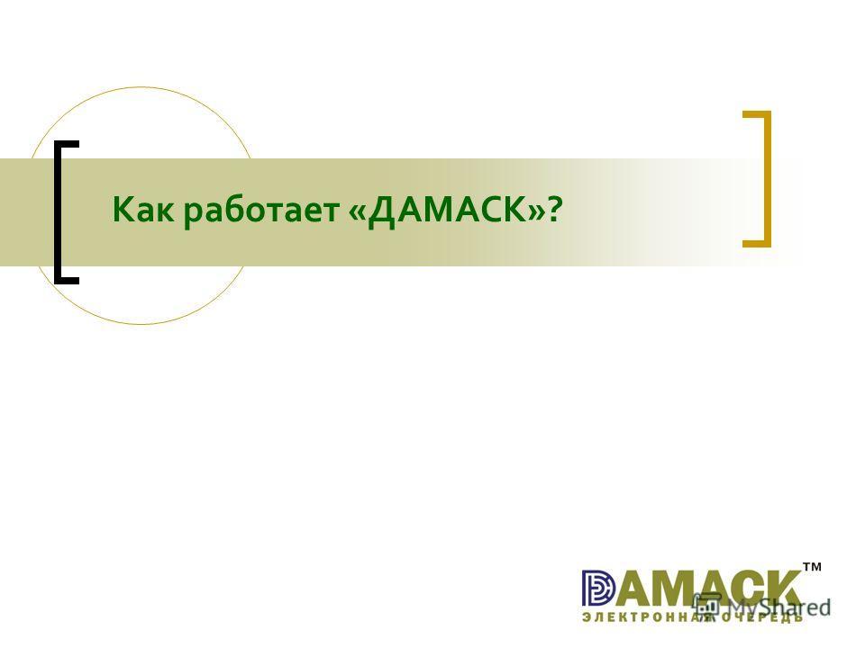 Как работает «ДАМАСК»?