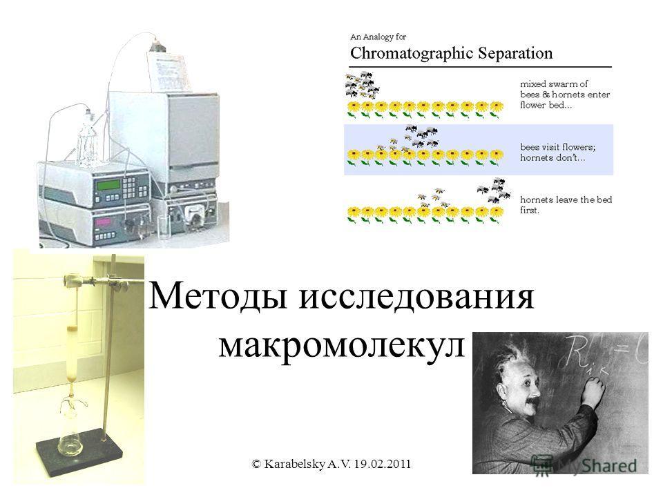Методы исследования макромолекул © Karabelsky A.V. 19.02.2011
