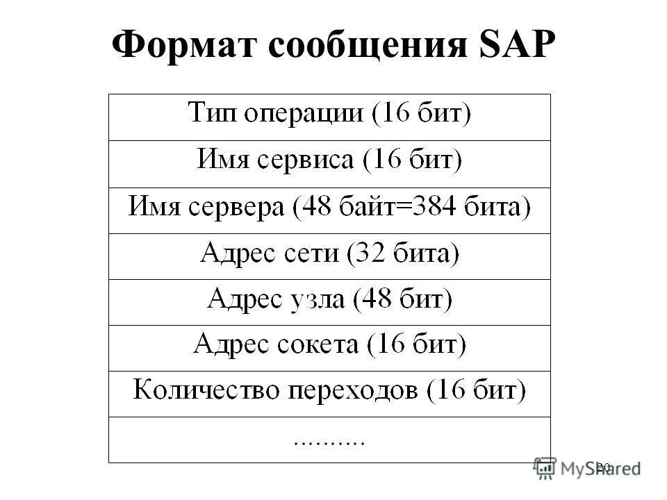 20 Формат сообщения SAP