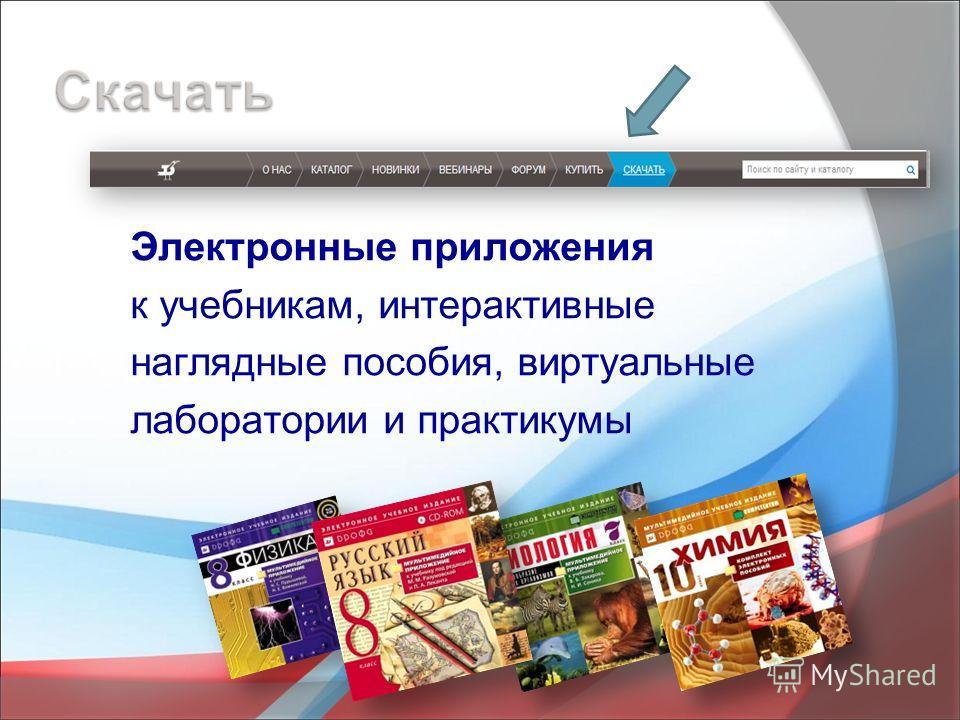Электронные приложения к учебникам, интерактивные наглядные пособия, виртуальные лаборатории и практикумы