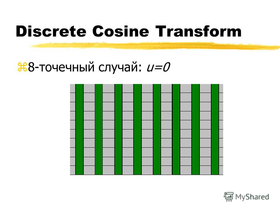Discrete Cosine Transform z8-точечный случай: u=0