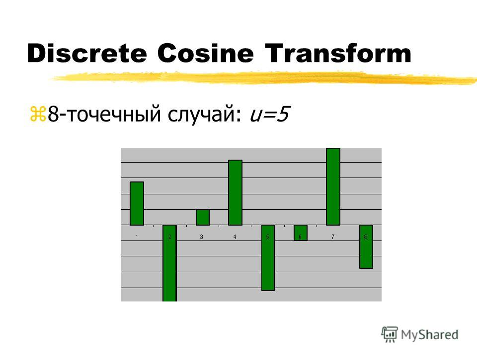Discrete Cosine Transform z8-точечный случай: u=5