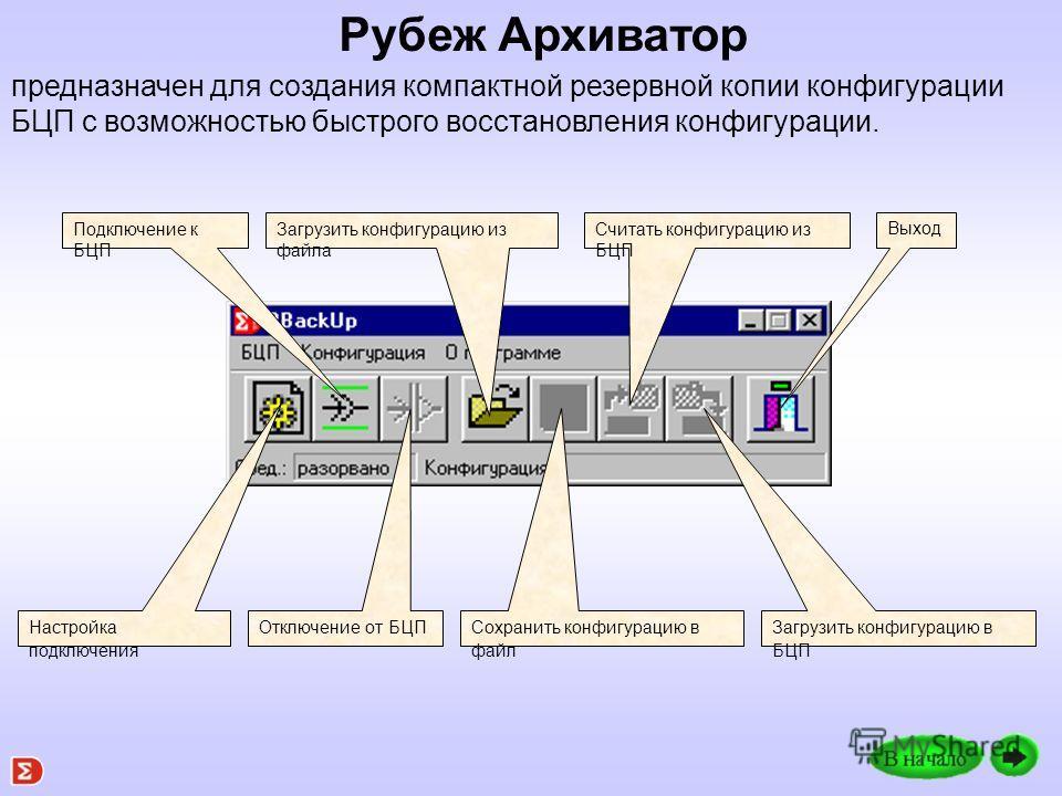 Окно программы Рубеж Консоль Работа с консолью полностью идентична непосредственной работе с БЦП.