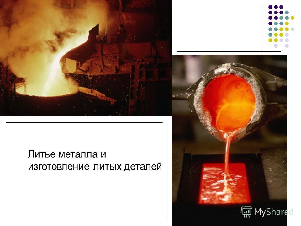 Литье металла и изготовление литых деталей