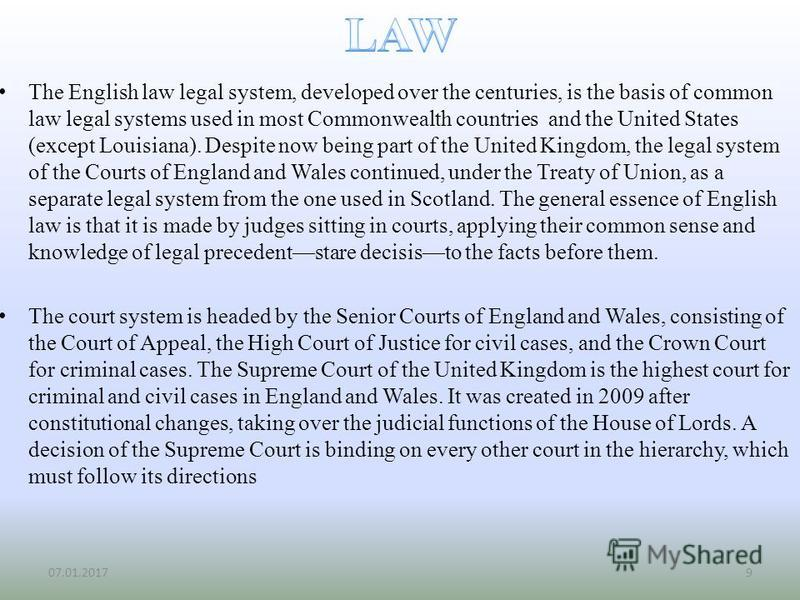 1 law and the legal system The rule of law also requires that people can expect predictable results from the legal system this is what judge wood implies when she says that the laws must.