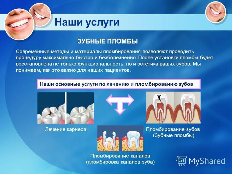 низкие цены на пломбу зубов особенно