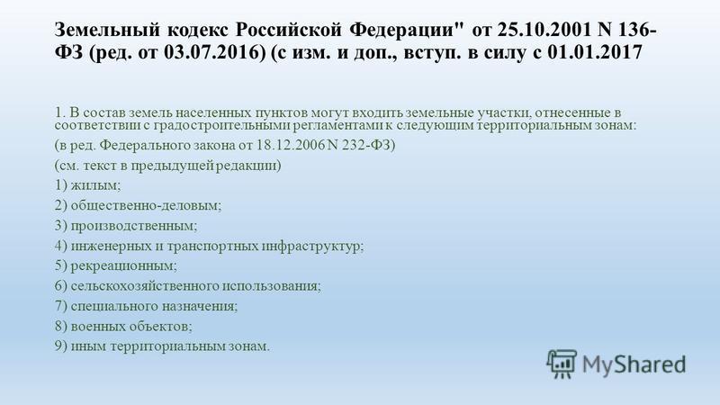 земельный кодекс 56