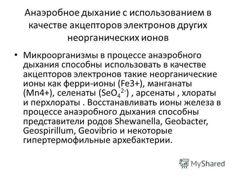 Презентация на тему МИНИСТЕРСТВО ОБРАЗОВАНИЯ РЕСПУБЛИКИ БЕЛАРУСЬ  7 Анаэробное