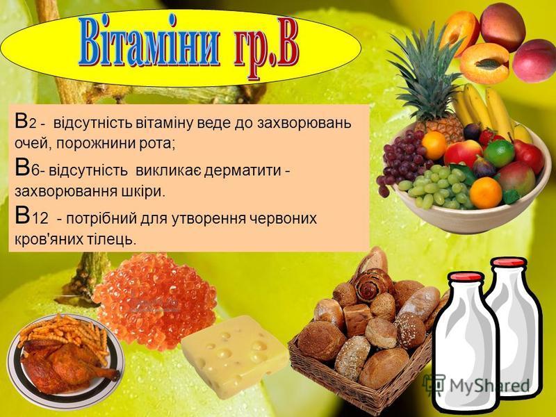 ВіТАМіН B1 Міститься в горіхах, печінці, крупах, м`ясі птахів, зелені. Міститься в горіхах, печінці, крупах, м`ясі птахів, зелені. 1,6 мг. Регулює обмін речовин, кровотворення, роботу м`язів, активує процеси мозку. При авітамінозі – захворювання Бері