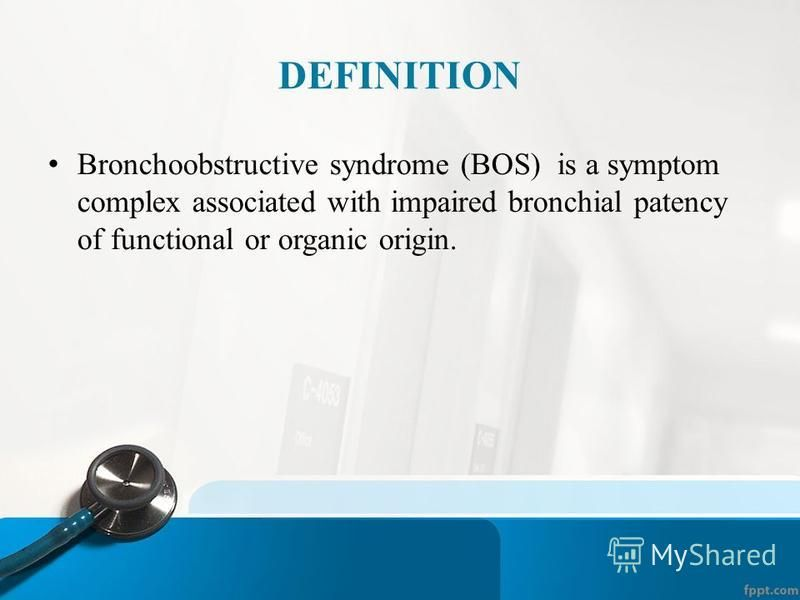 Bronchial Obstruction In Children Assistant