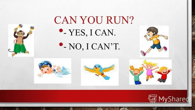 CAN YOU RUN? - YES, I CAN. - NO, I CANT.