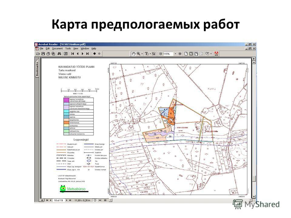 Карта предпологаемых работ