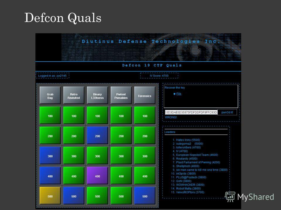 Defcon Quals