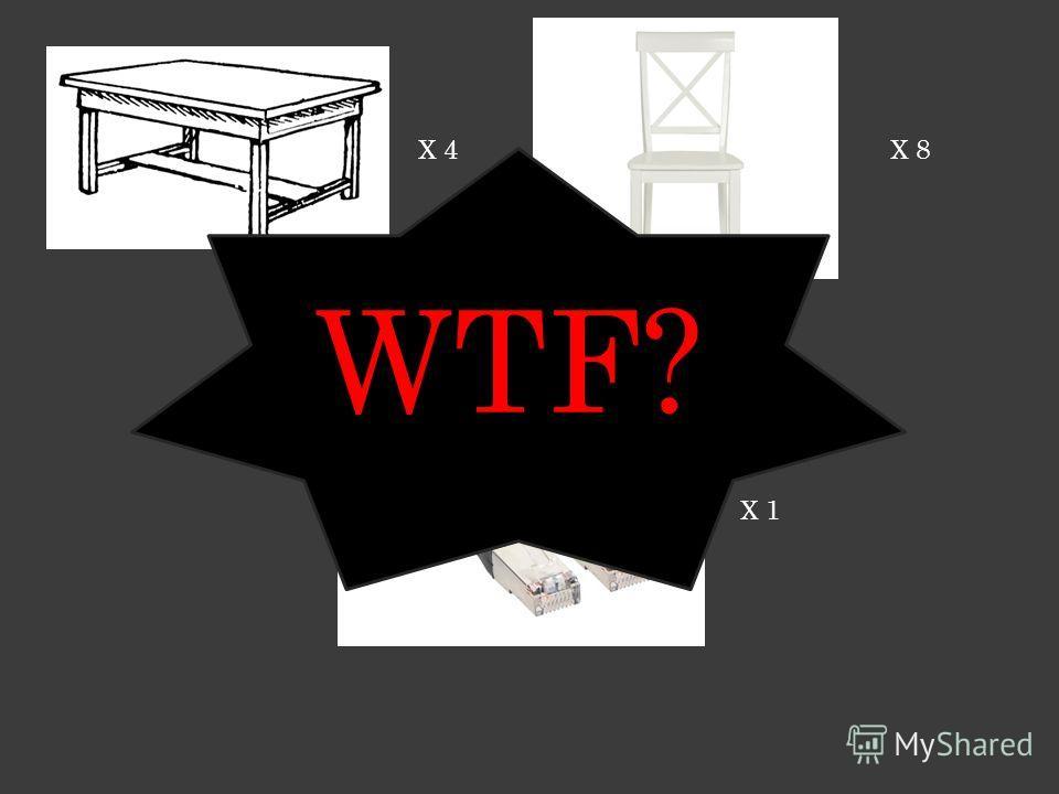 X 4X 8 X 1 WTF?