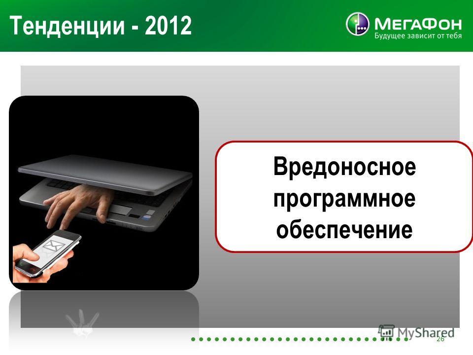 Тенденции - 2012 Вредоносное программное обеспечение 26