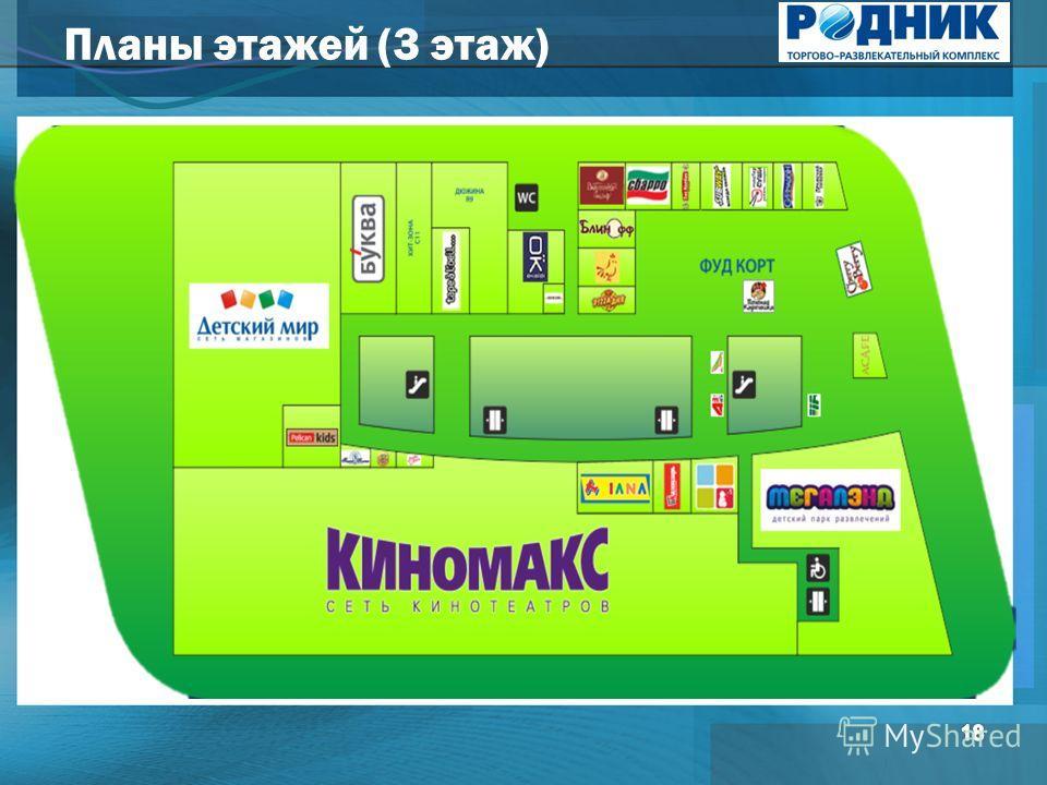 Планы этажей (3 этаж)