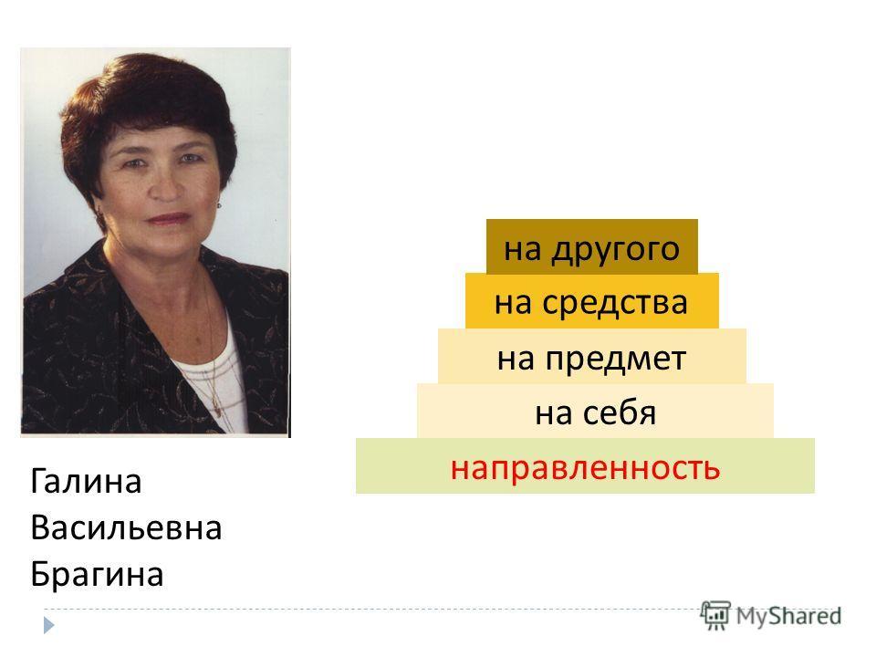 Галина Васильевна Брагина на себя на предмет на средства на другого направленность