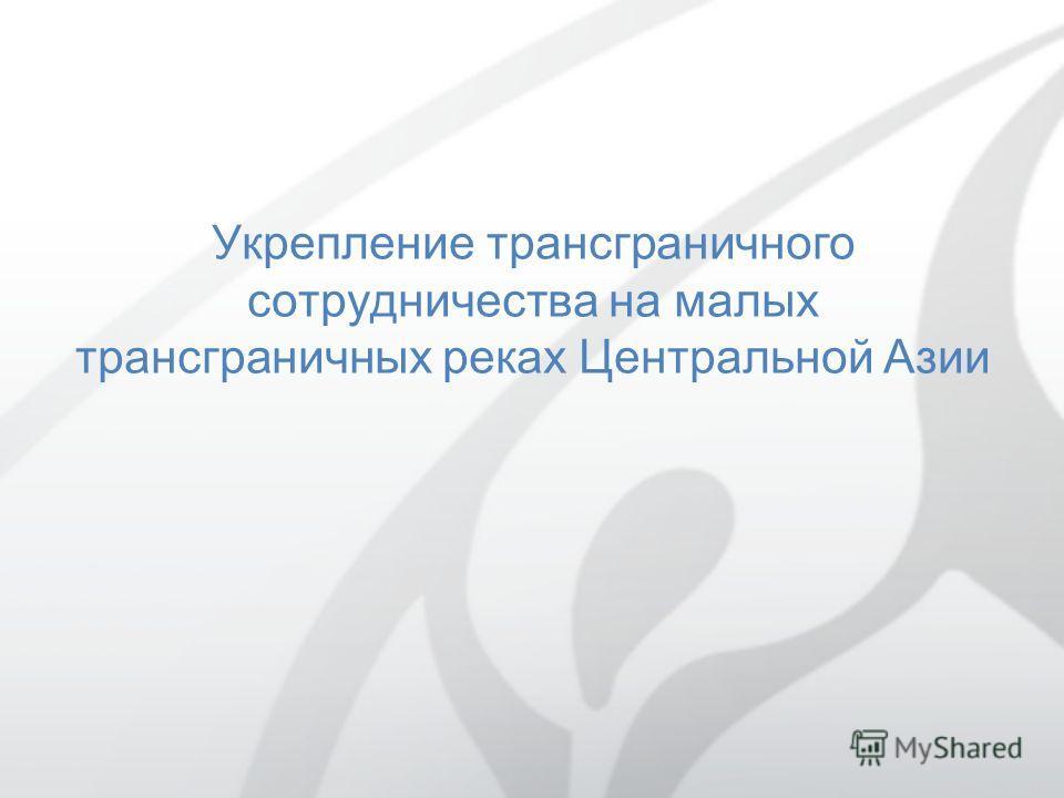 Укрепление трансграничного сотрудничества на малых трансграничных реках Центральной Азии