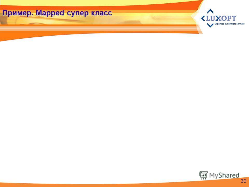 Пример. Mapped супер класс 30