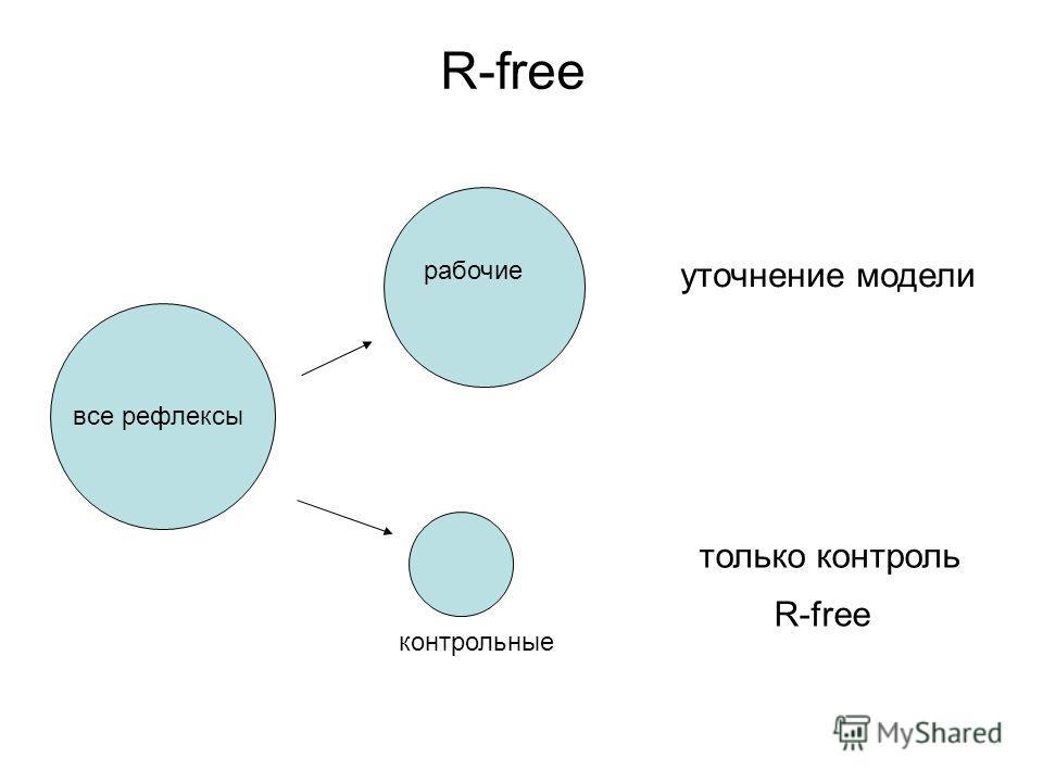 R-free все рефлексы рабочие контрольные уточнение модели только контроль R-free