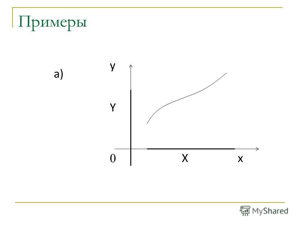 Примеры x y 0 X Y а)