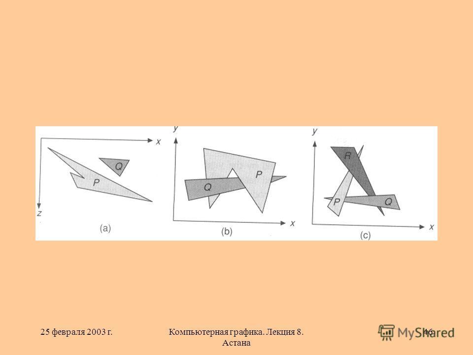 25 февраля 2003 г.Компьютерная графика. Лекция 8. Астана 46