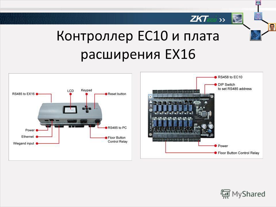 Контроллер EC10 и плата расширения EX16