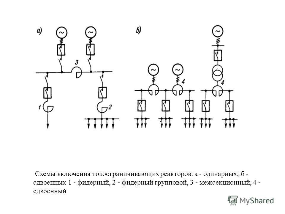 Обозначение реактора токоограничивающего на схеме