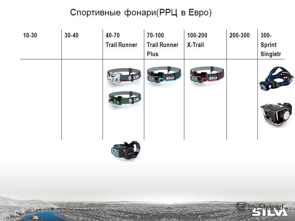 10-3030-4040-70 Trail Runner 70-100 Trail Runner Plus 100-200 X-Trail 200-300300- Sprint Singletr Спортивные фонари(РРЦ в Евро)