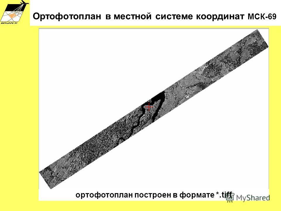 Ортофотоплан в местной системе координат МСК-69 ортофотоплан построен в формате *.tiff