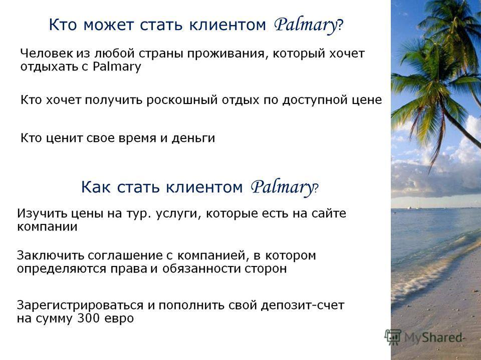 Кто может стать клиентом Palmary ? Как стать клиентом Palmary ?