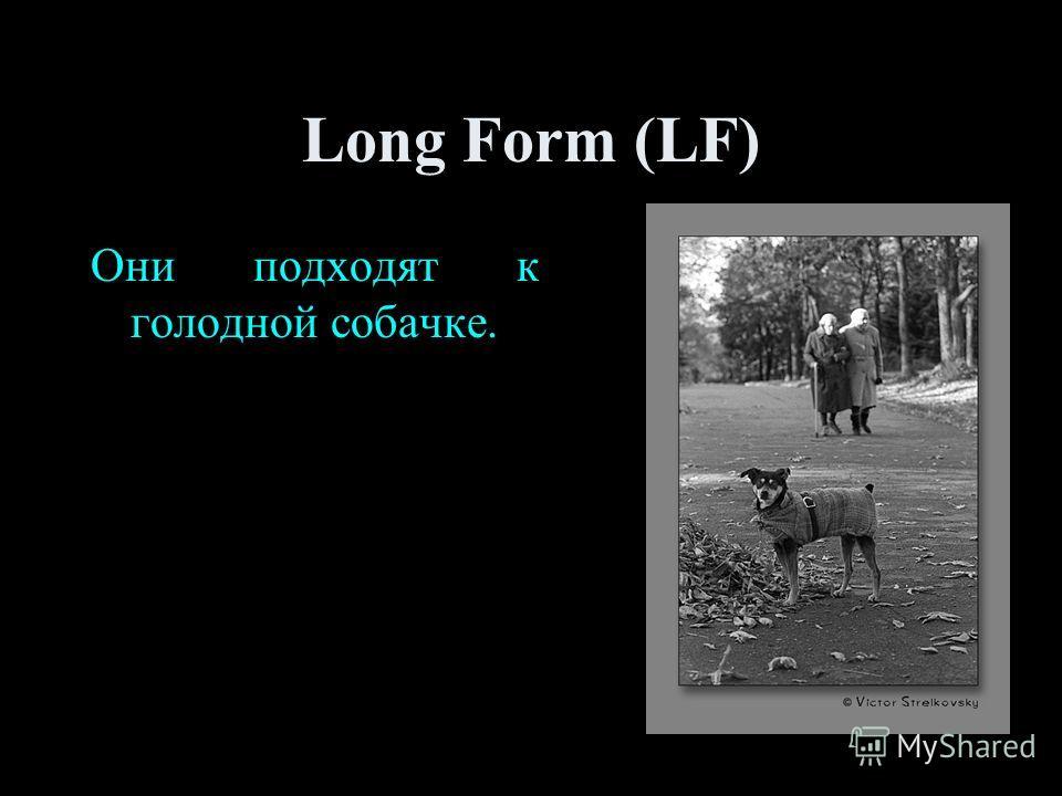 Long Form (LF) Они подходят к голодной собачке.