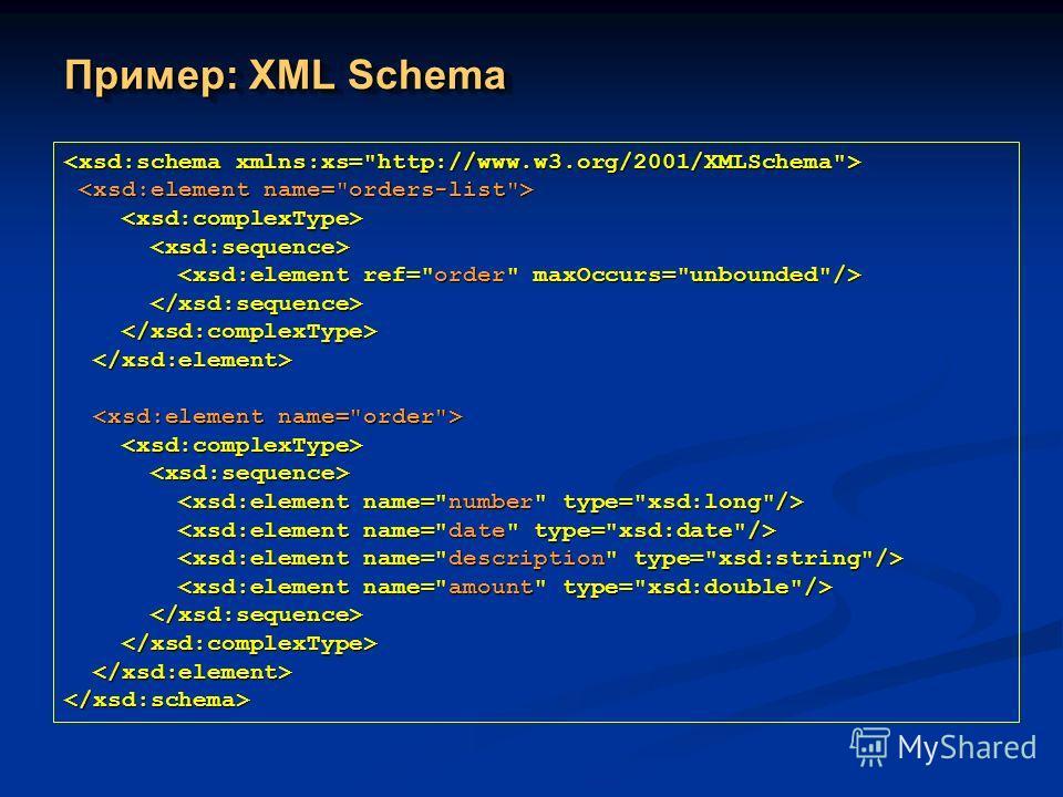 Пример: XML Schema