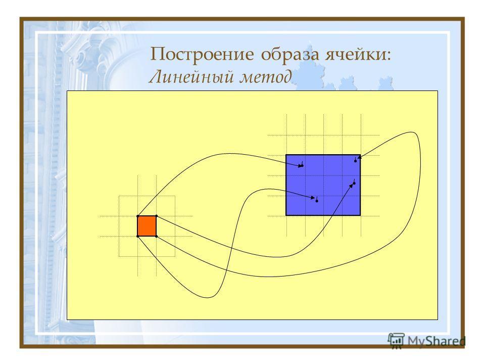 Построение образа ячейки: Линейный метод