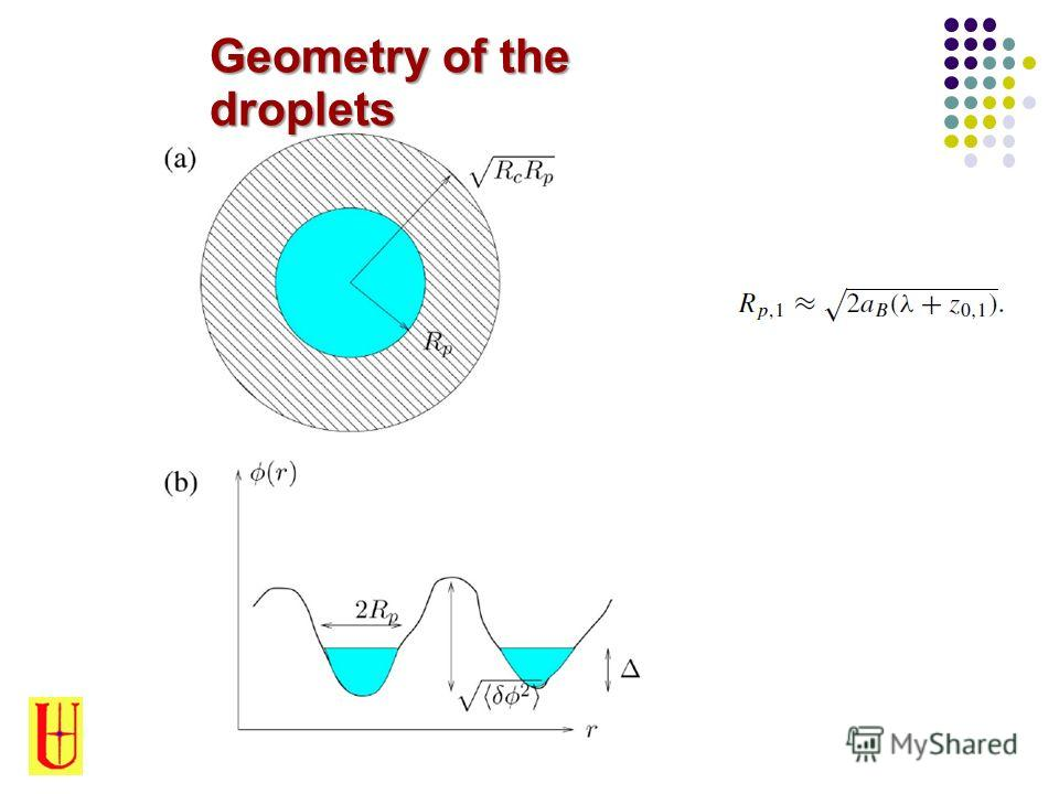 Geometry of the droplets
