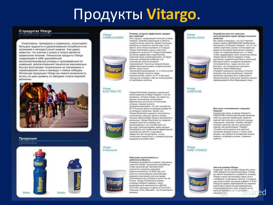 Продукты Vitargo.