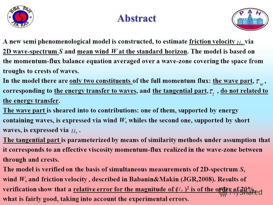 Образец заголовка Образец текста Второй уровень Третий уровень Четвертый уровень Пятый уровень 2 Образец заголовка Образец текста Второй уровень Третий уровень Четвертый уровень Пятый уровень 2 Abstract A new semi phenomenological model is constructe