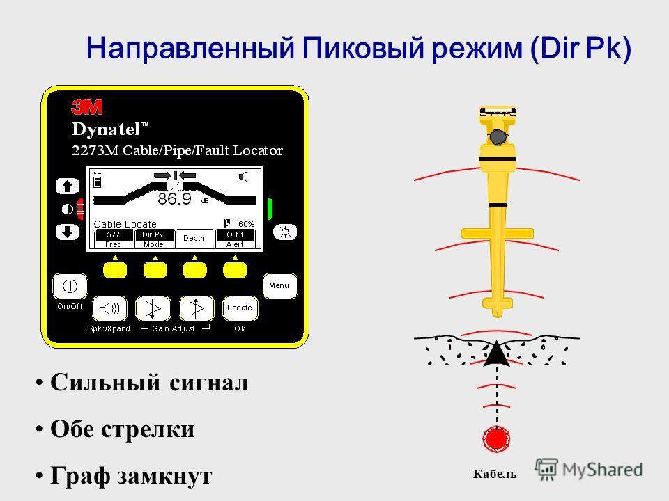 Направленный Пиковый режим (Dir Pk) Кабель Сильный сигнал Обе стрелки Граф замкнут