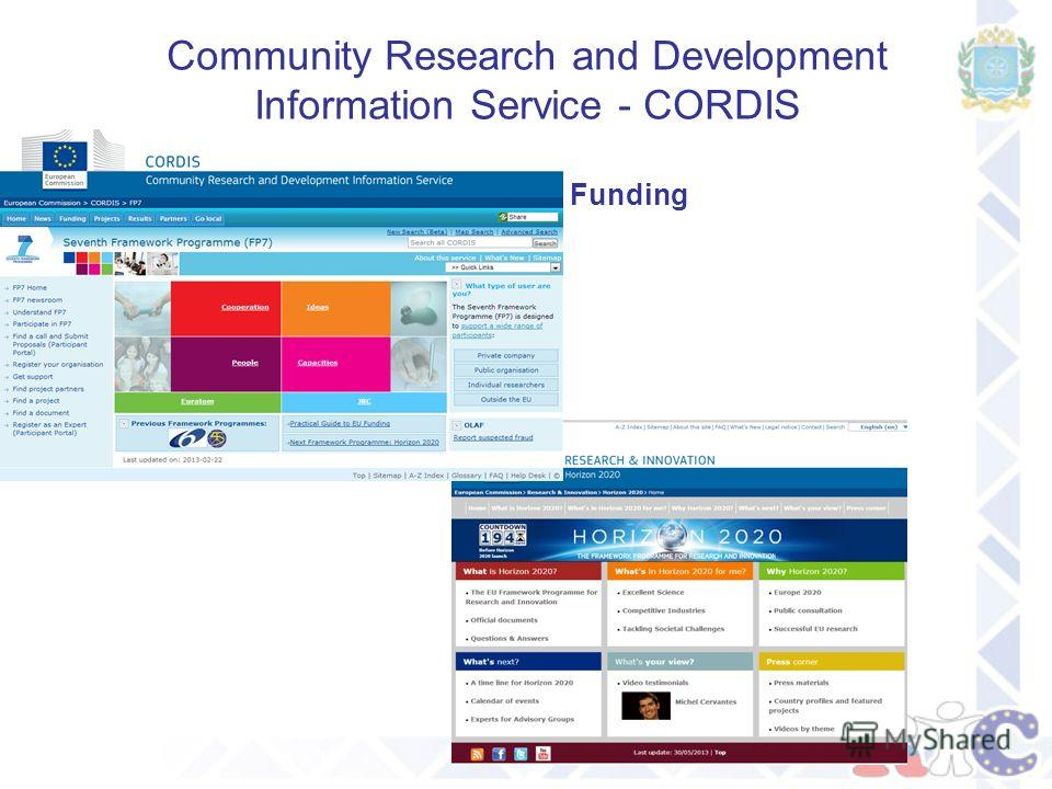 Community Research and Development Information Service - CORDIS Funding