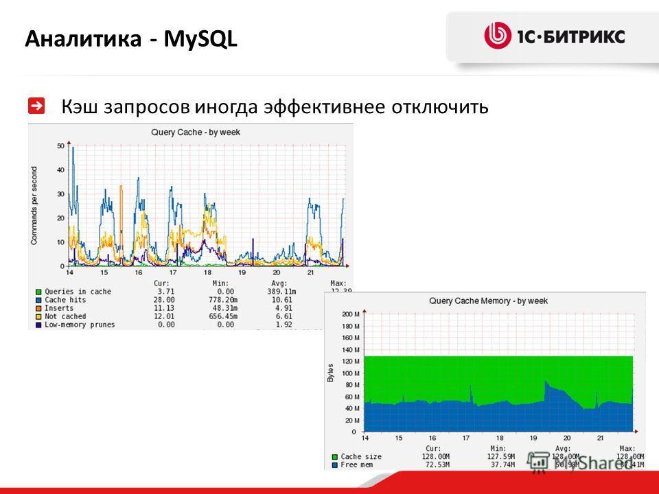 Аналитика - MySQL Кэш запросов иногда эффективнее отключить